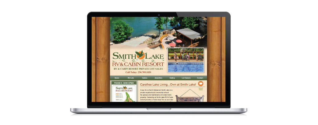 New web design for Smith Lake RV Resort