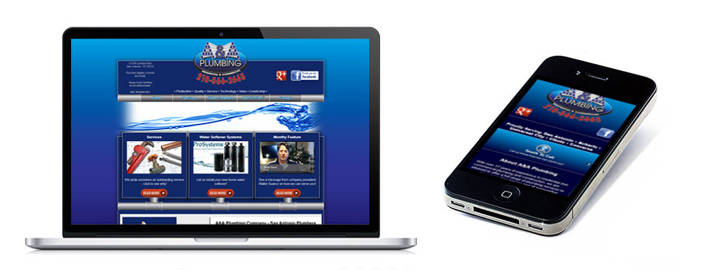 New web design and mobile site for A&A Plumbing