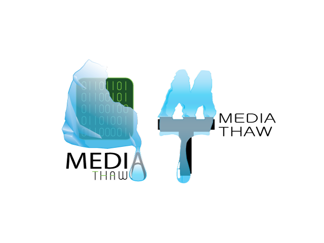 media thaw logo design
