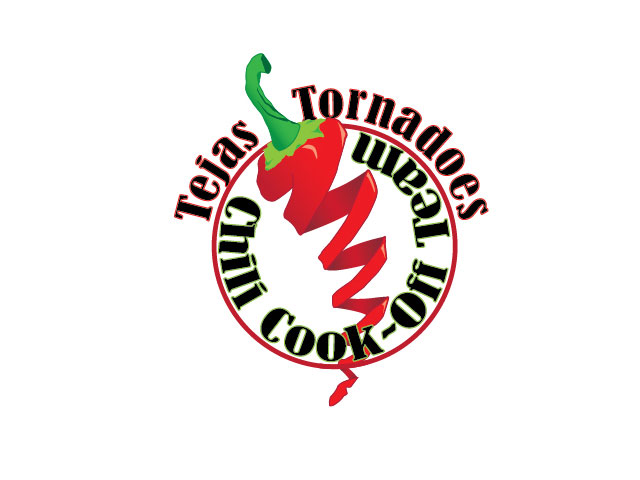 Tejas Tornadoes Chili Cookoff logo design