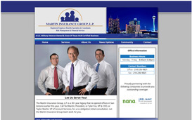 The Martin Insurance Group, L.P. Web Design