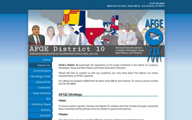 IAFGE District 10 Web Design